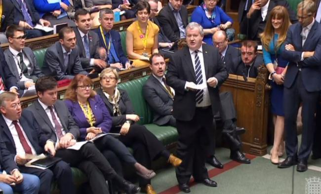 Ian Blackford was ordered to leave the Commons chamber as the SNP protested over Brexit