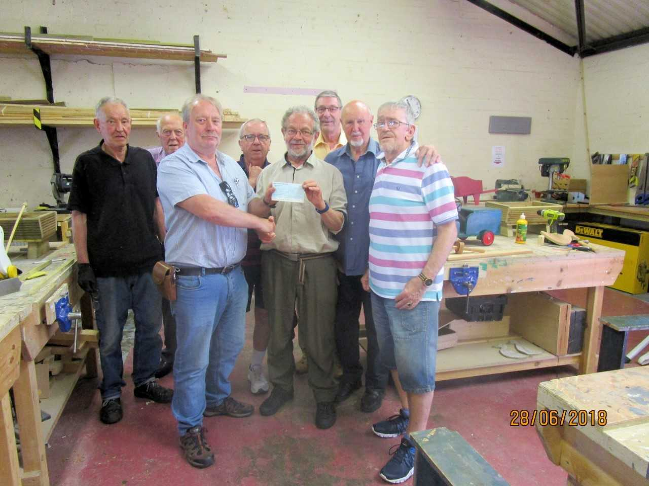 Members of Barrhead Rotary and the Men's Shed