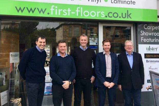 Government minister hails flooring firm's tech use