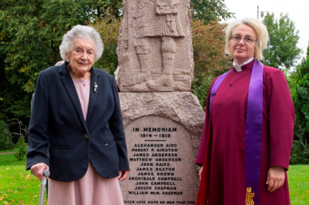 Memorial rededicated to fallen after renovation