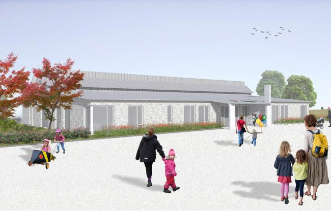 An artist's impression of the new nurseries in East Renfrewshire