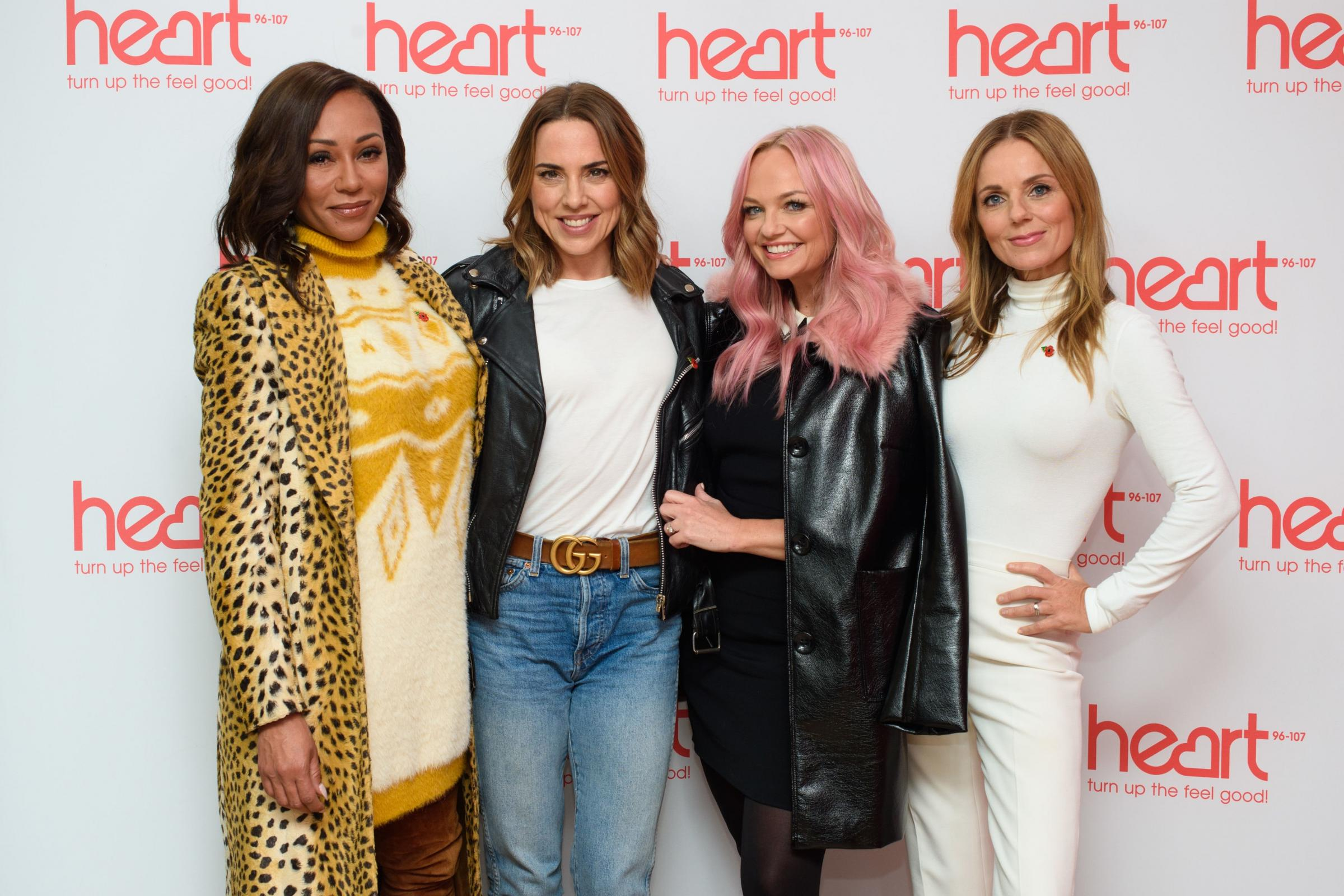 Melanie Brown, Melanie Chisholm, Emma Bunton and Geri Horner at a live appearance