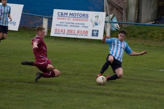 Arthurlie fell behind after sloppy defending handed the visitors two simple chances  Photo: Karen Reid