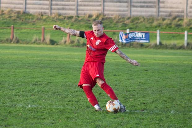 Barrhead News: Scott Robson captaining Johnstone Burgh at the beginning of the season