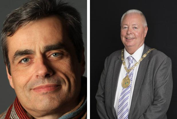 "Councillor Jim Swift (left) said he was ""appalled"" by the comments made by Provost Jim Fletcher (right)"