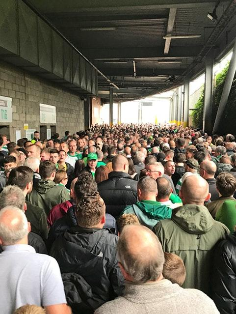 Barrhead News: An incident occurred at an Old Firm game in September as fans attempted to enter Parkhead (Mike Robb/PA)