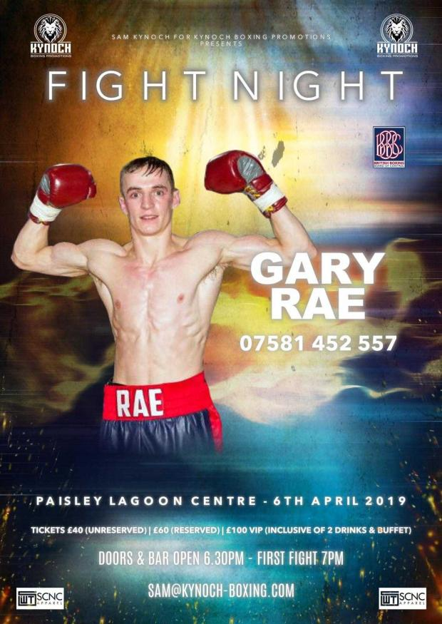 Barrhead News: Rae one of the main events in the April 6 'Fight Night'