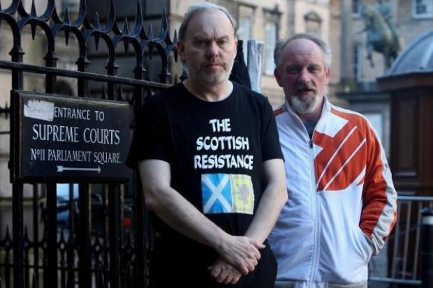 Sean Clerkin was expelled from Scottish Resistance over protest banner