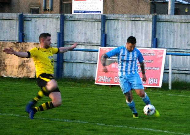 Barrhead News: Lie made it three wins on the bounce as they saw off league leaders Benburb
