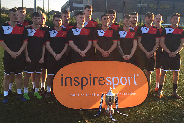 Barrhead YFC posing with the Scottish Youth Cup ahead of tonight's final