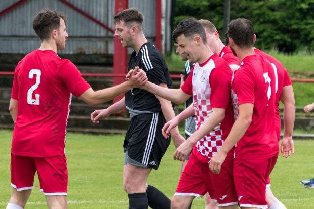 Barrhead News: Neilston went ahead twice at the Brig but couldn't hold on as Craigmark nicked a point (Photo: Paul Byars)
