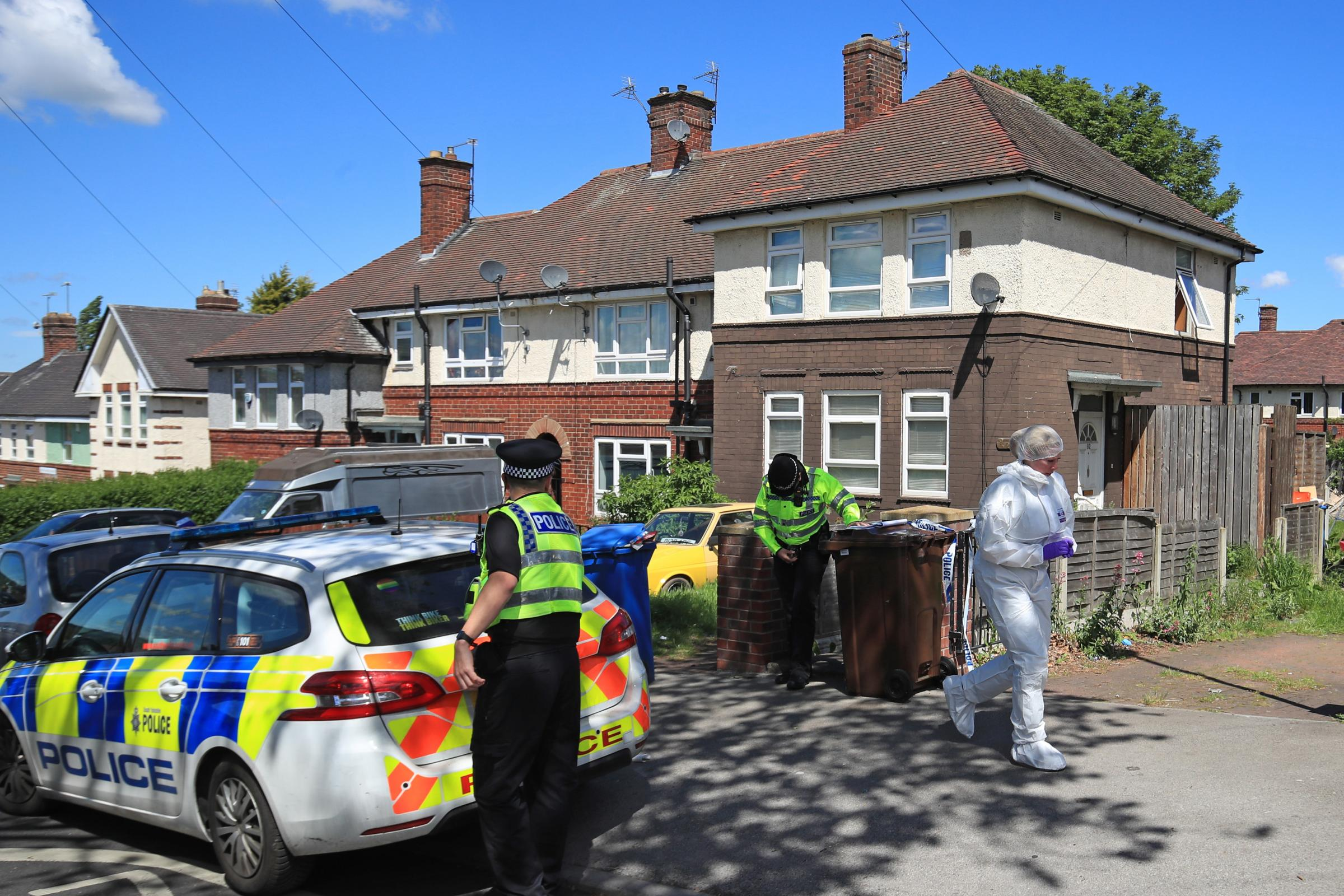 Police at a property on Gregg House Road in Shiregreen, Sheffield