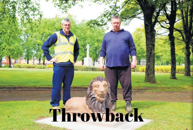 Leo the lion was given pride of place in park after restoration work
