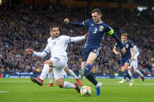 Andy Robertson scored a stunning goal in Scotland's win over Cyprus