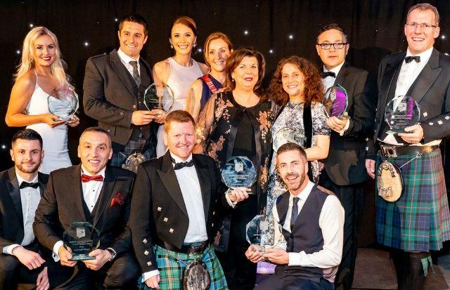 Award winners are pictured at the Dalmeny Park House Hotel with event host Elaine C Smith
